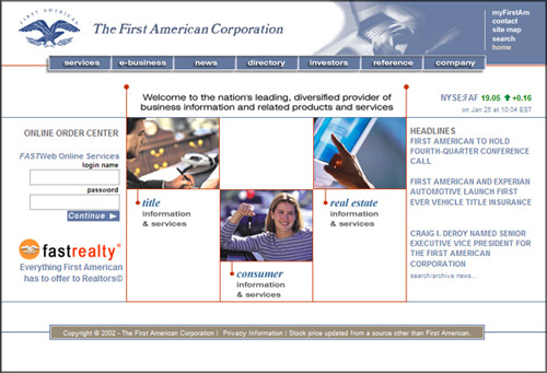 FastRealty Corporate Landing Page