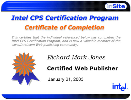 Intel Publisher Certificate