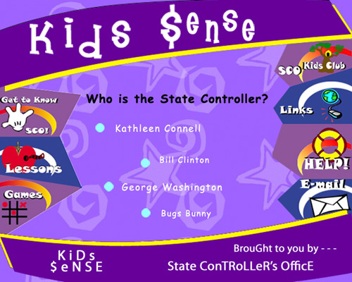 Childrens Website Design for CA State Controlers Office